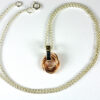 Mobius Rose Gold Filled pendant on machined chain